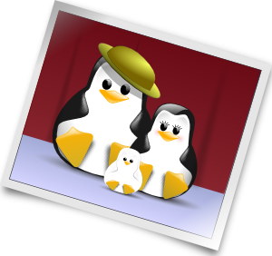 image royalty free library Photo clipart. Happy penguins family clip