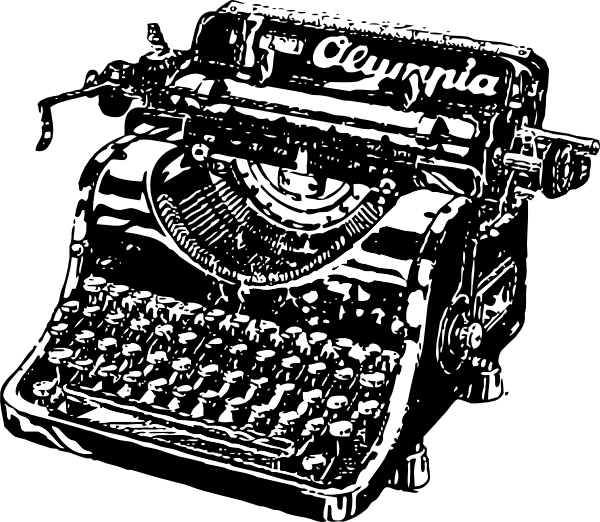 image black and white download Old Fashioned Typewriter Clipart