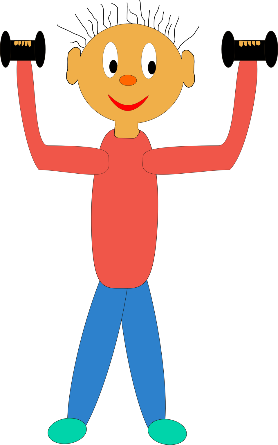 picture free Barbell clipart weight training. Public domain clip art