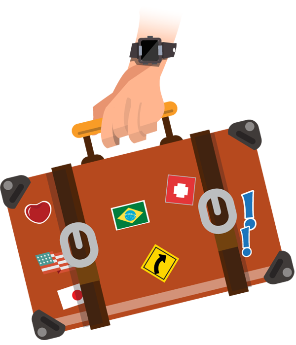 svg black and white download Photograph clipart tourist. Hand holding vintage travel.