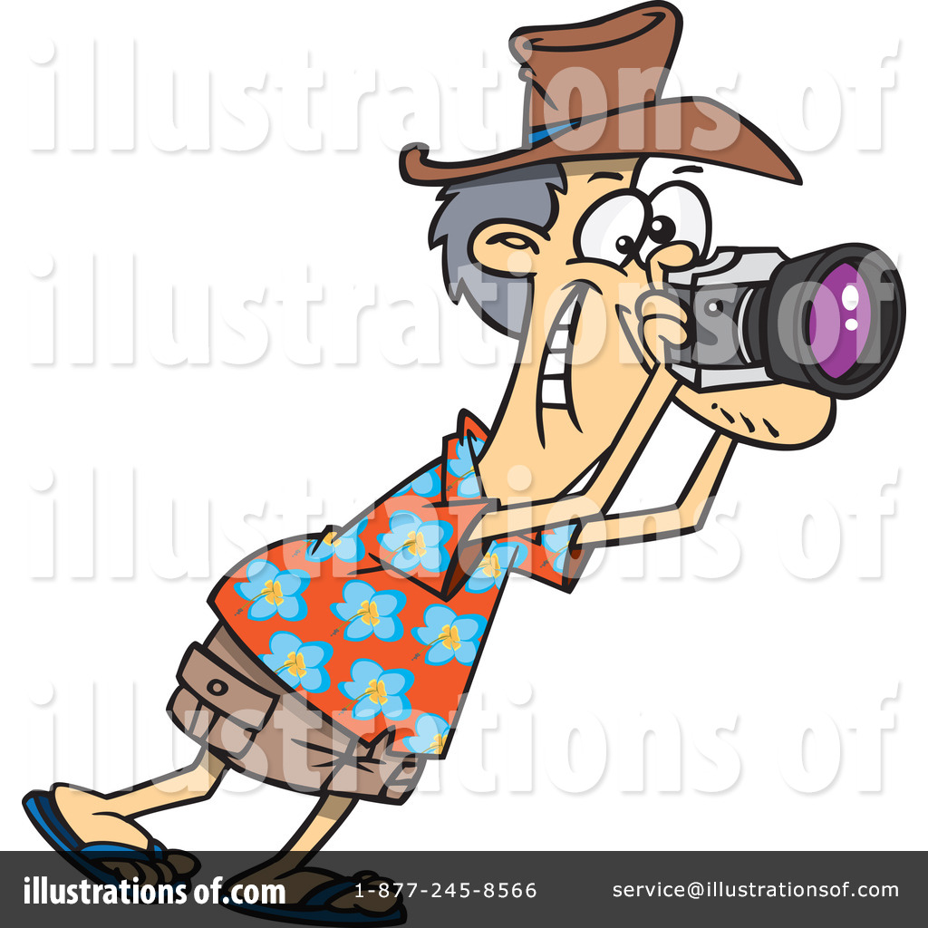 jpg freeuse download Photograph clipart tourist. Illustration by toonaday .