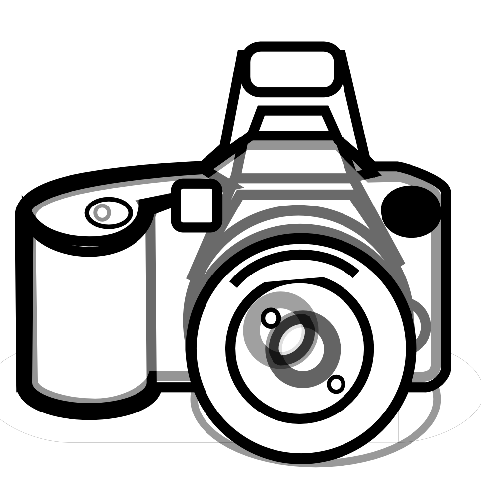 vector transparent Photography free images clipartix. Video camera clipart black and white