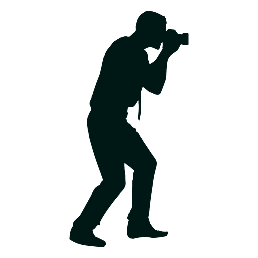 svg library Man photographer shooting transparent. Vector photography silhouette