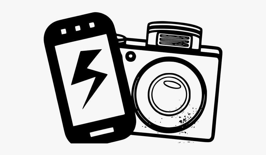 vector royalty free library Photography clipart. Phone camera iphone clip.