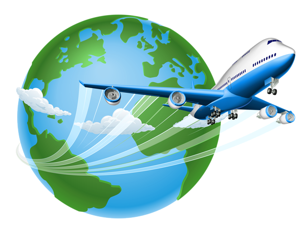picture freeuse download Air trave png pinterest. Airplane around the world clipart