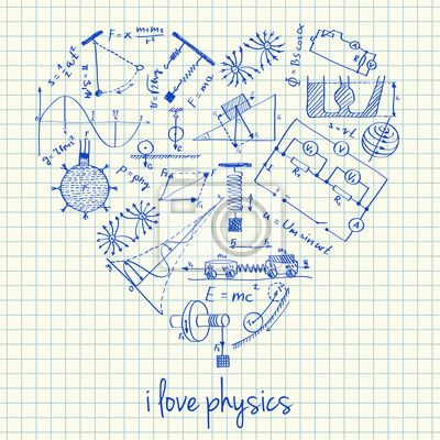 clip black and white library Drawings in heart shape. Physics drawing.