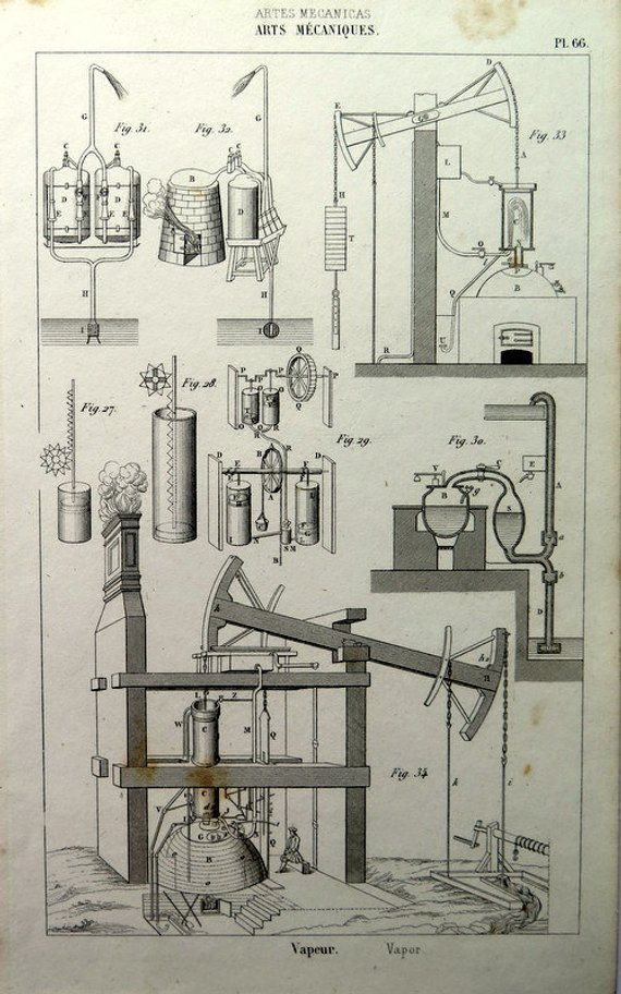 picture free library Physics drawing ancient. Print of steam machines