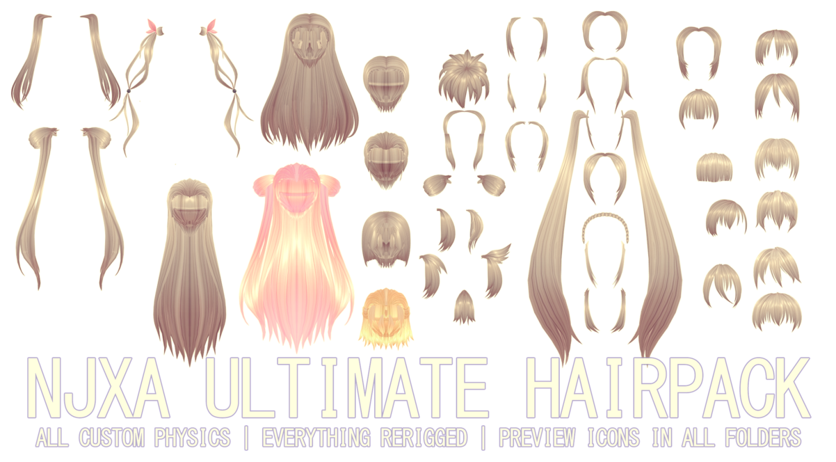 clip art library download ULTIMATE NJXA HAIRPACK DL by kreifish on DeviantArt