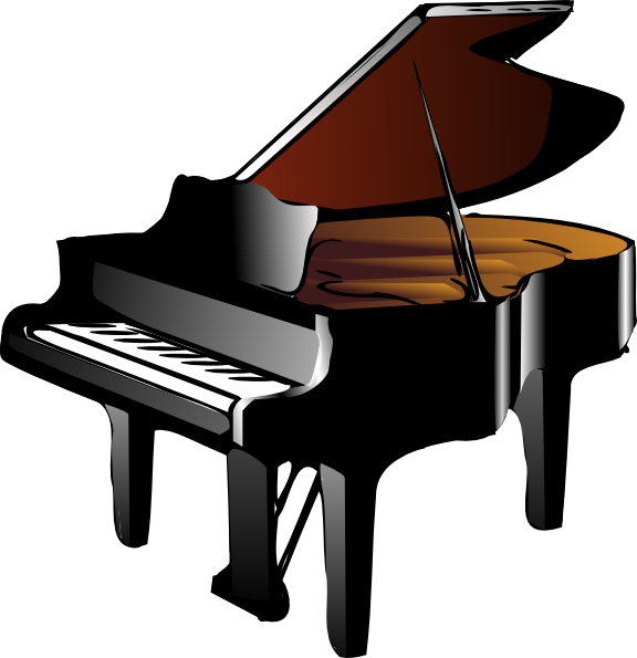 clip freeuse Piano Keyboard Clipart Black And White