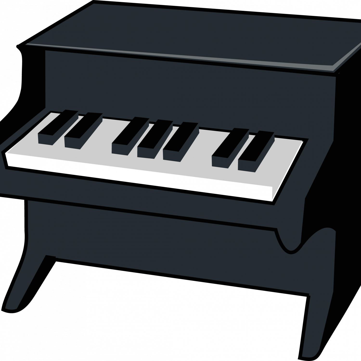 png black and white stock Electric keyboard clipart. Grand piano drawing upright