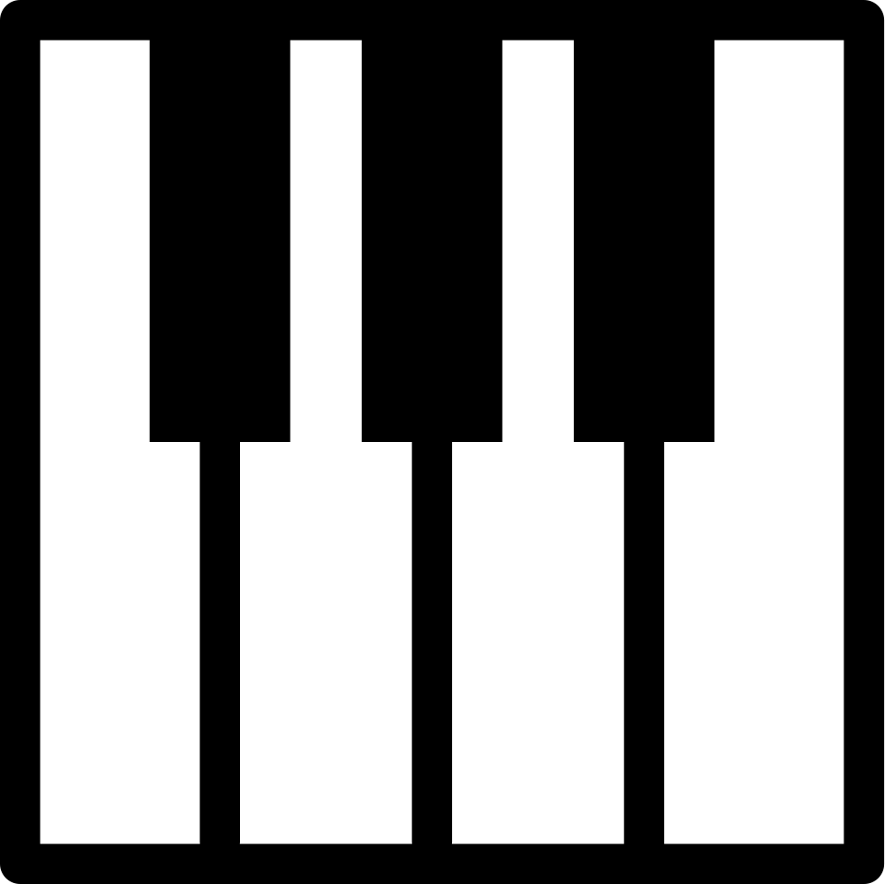 transparent stock Piano keyboard clipart. Silhouette at getdrawings com.