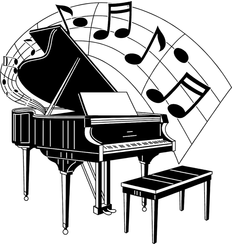 jpg library stock Piano keyboard clipart black and white. Drawing images at getdrawings