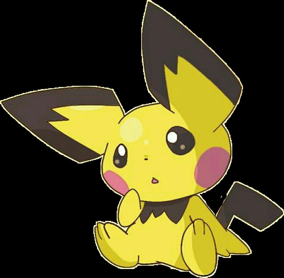 graphic stock Pokemon sticker by fiorellamarillo. Pichu drawing kawaii