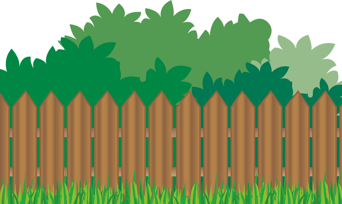 graphic library library Old Wooden Fences And Gates Clip Art