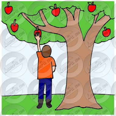 svg freeuse library Pick apple picture for. Picking apples clipart