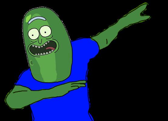 jpg black and white download Pickle Rick dabbing