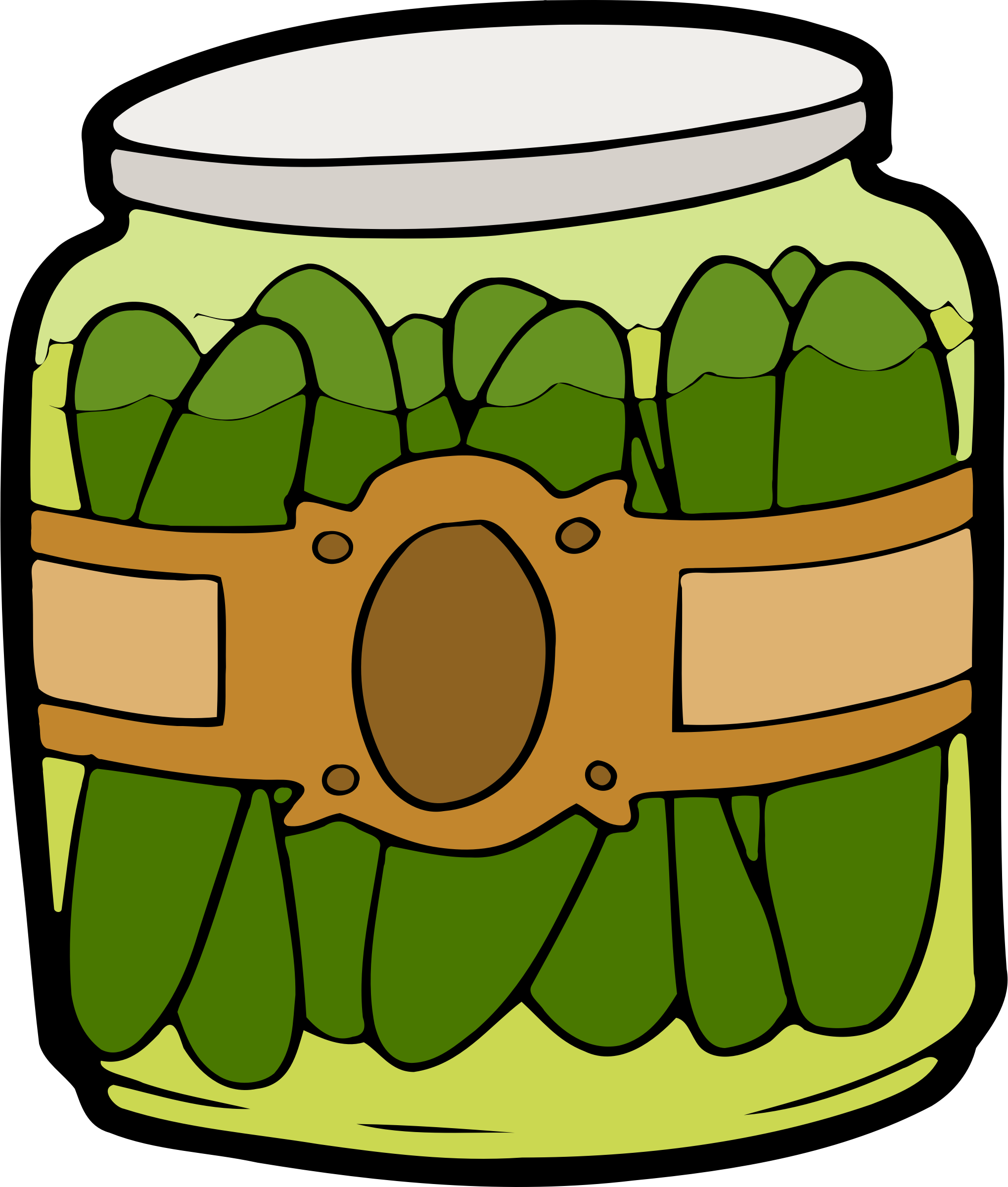 image royalty free library Pickles clipart. In a jar big.