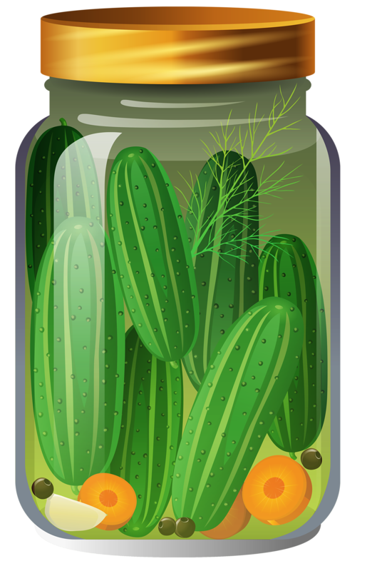 clipart freeuse download  png pinterest jar. Pickles clipart.