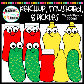 jpg royalty free download Ketchup mustard clipart. Pickles