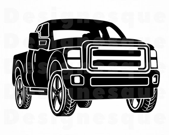 clip black and white library Truck svg files for. Pickup clipart