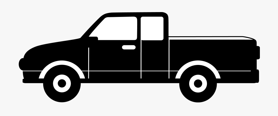 vector transparent library Pickup clipart. Download truck black and.