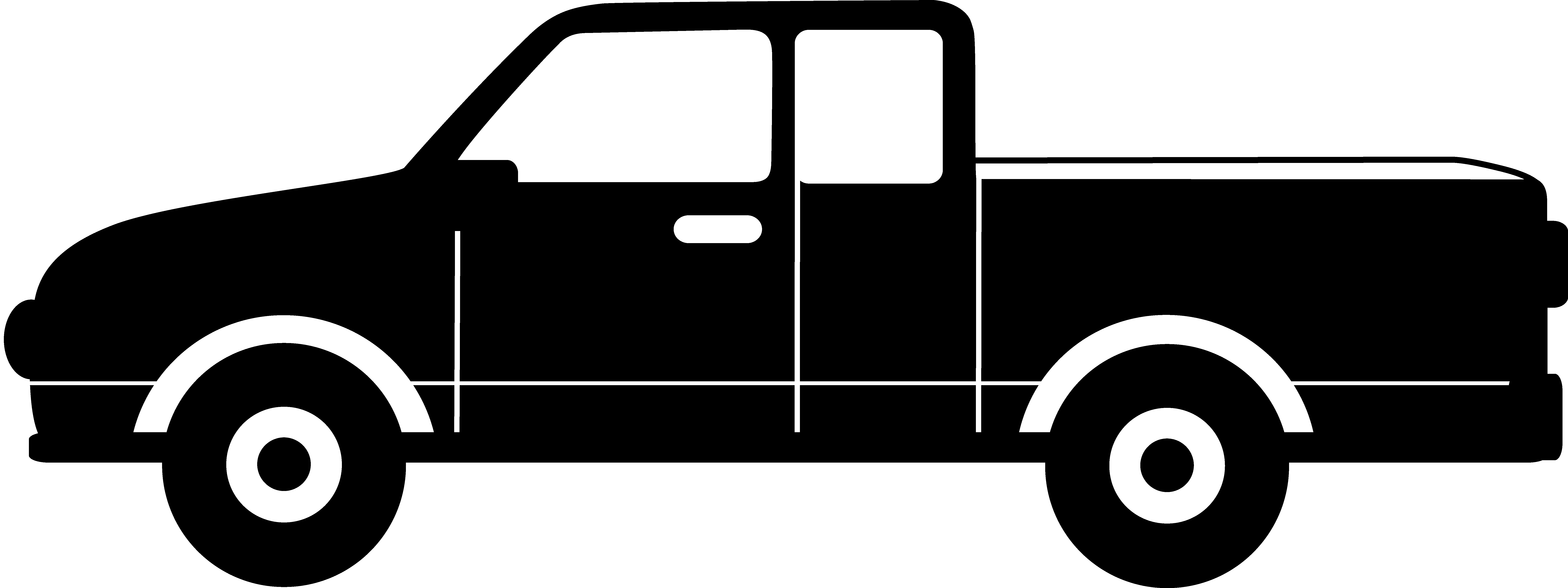 clipart freeuse Truck silhouette . Pickup clipart.