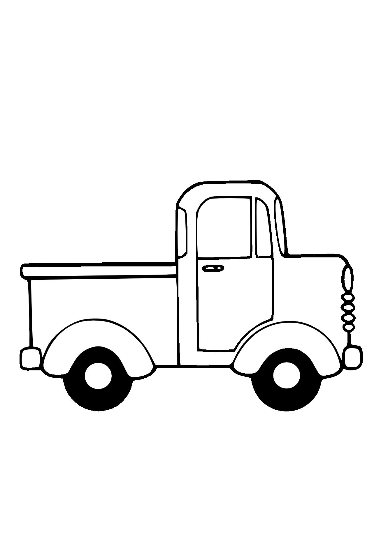 jpg transparent library Truck panda free images. Pickup clipart.