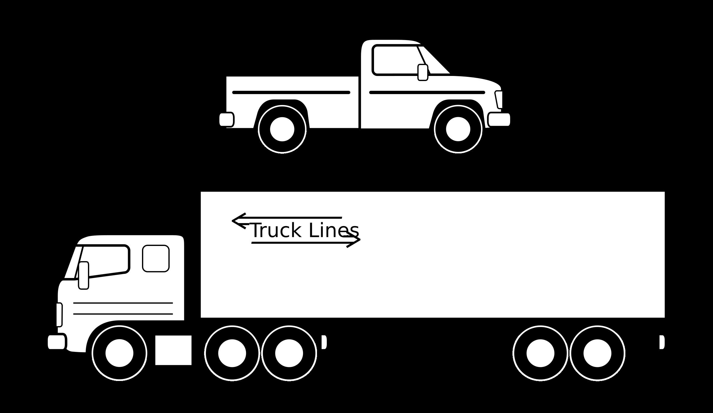 picture transparent library Pickup clipart. Et camion noirs big.