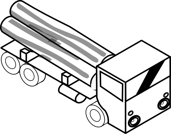 svg library download Pickup Truck Clipart Black And White