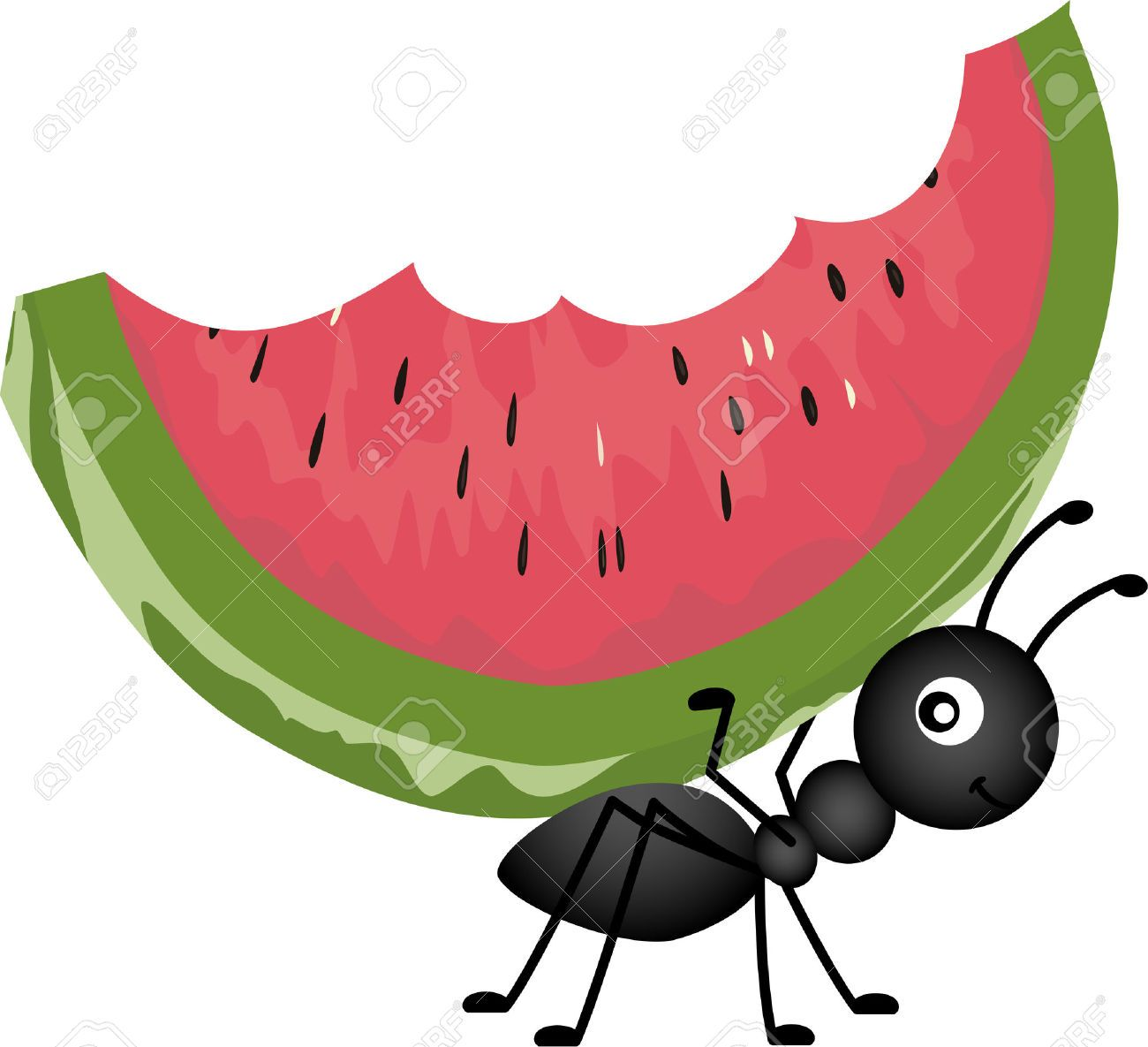 download Picnic ants clipart. Food ant carrying watermelon