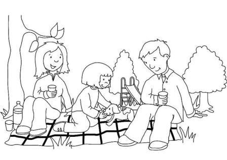 png royalty free download Picnic clipart black and white. Free family cliparts download