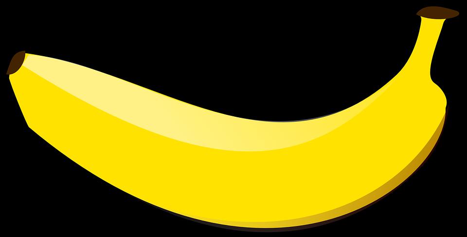 banner transparent library Banana clipart real fruit. Bananas vector buah
