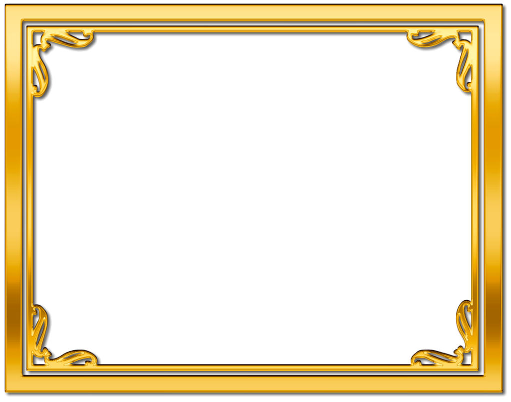 png library library Frame borders clipart. Gold border free google