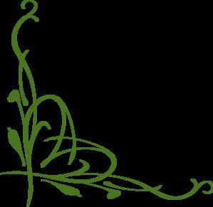 graphic Green Corner Vine Clip Art at Clker