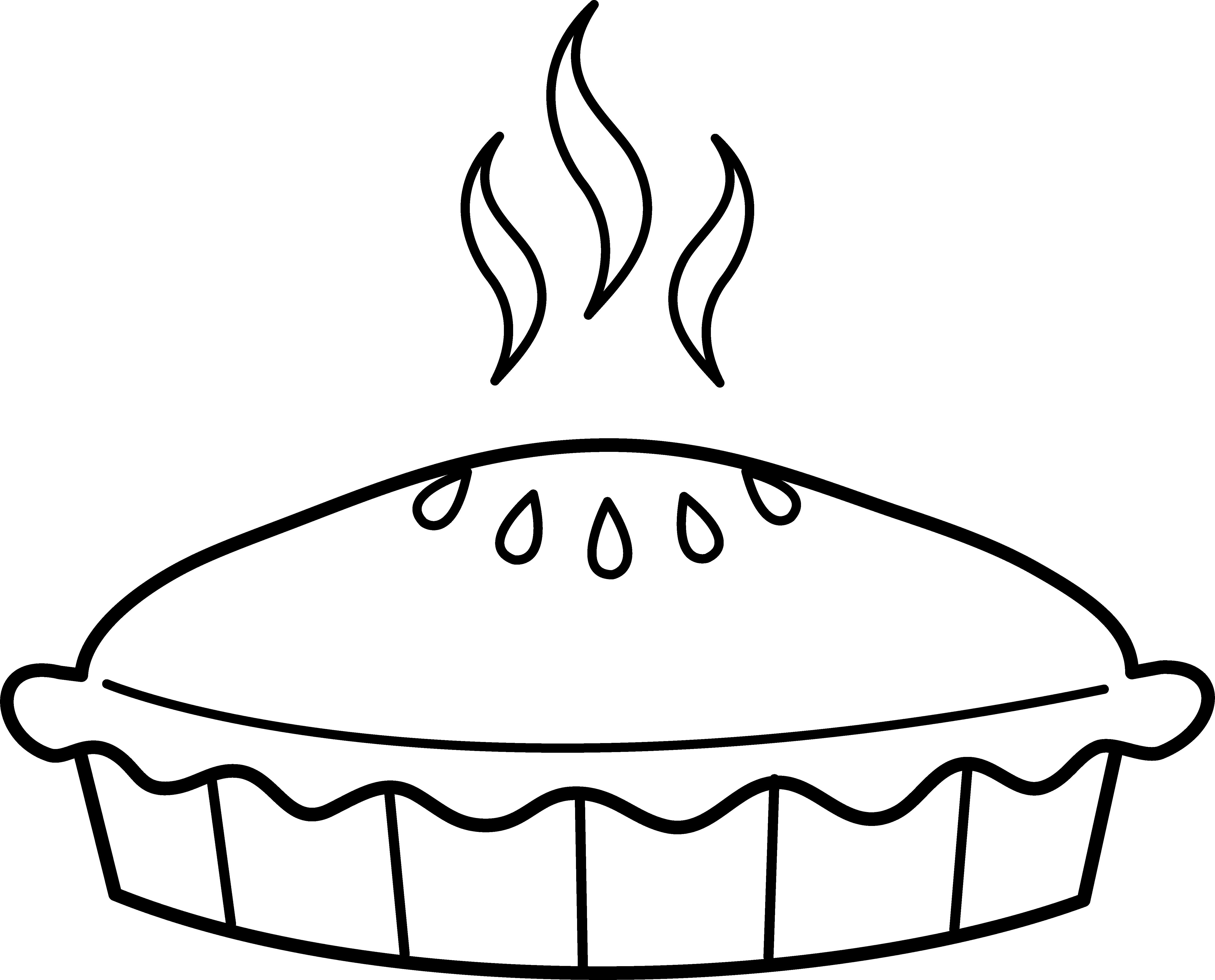 svg royalty free stock Pie clipart black and white.  collection of steaming