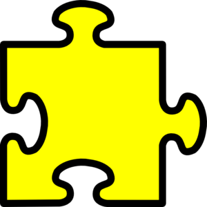 vector freeuse library Piece clipart. Yellow puzzle clip art.