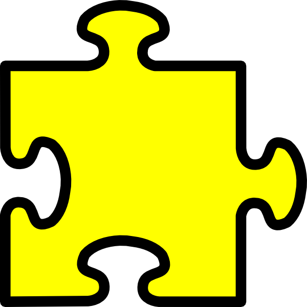 library Yellow Puzzle Piece Clip Art at Clker