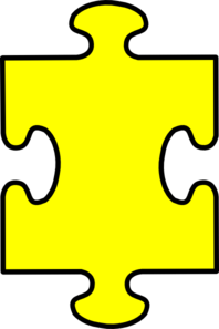 graphic black and white Piece clipart. Puzzle yellow clip art.