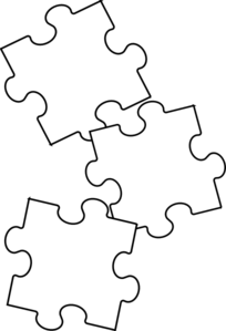 image freeuse stock Puzzle Piece Black And White Clipart