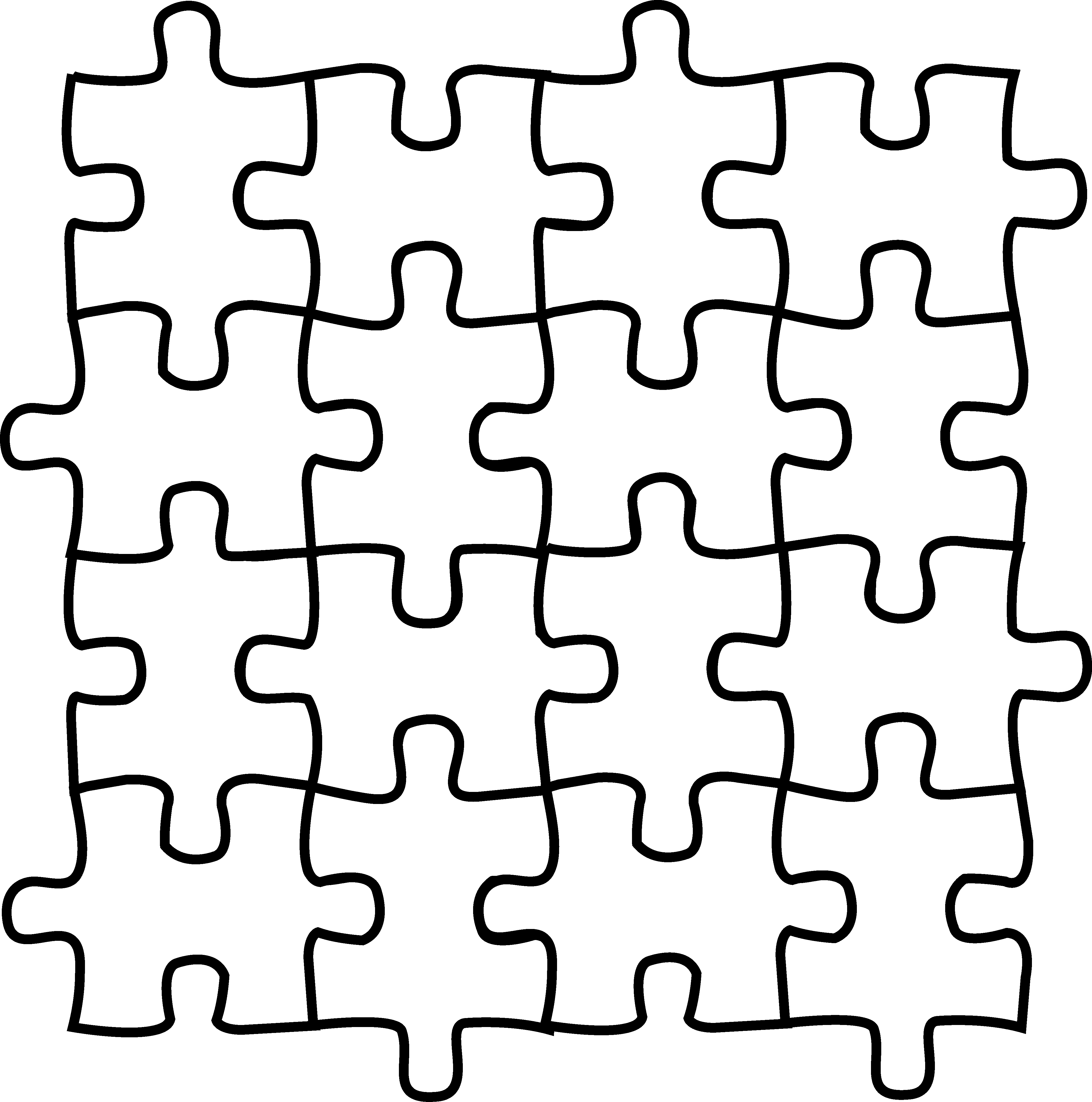 picture freeuse Puzzle pieces coloring page. Puzzles vector