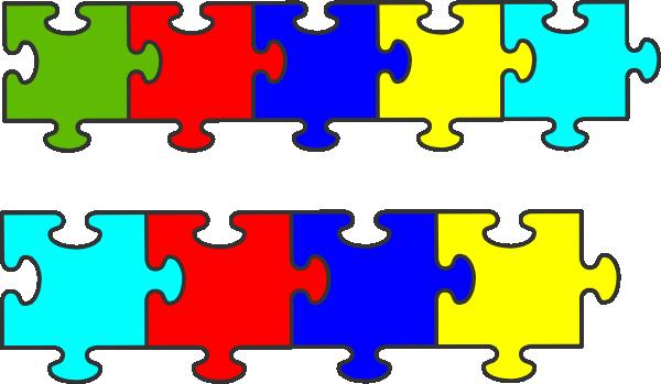 vector transparent Puzzles clipart proportion. Border puzzle piece clip