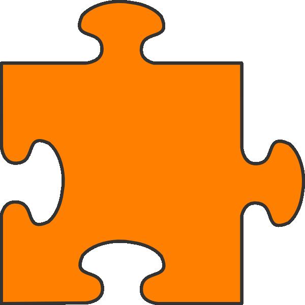 png stock Orange puzzle piece clip. Pieces clipart yellow