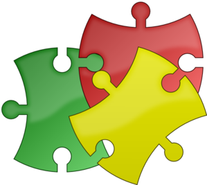 banner free Puzzle clip art at. Pieces clipart.