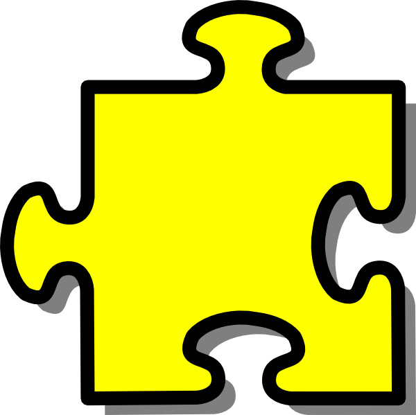 vector library Yellow puzzle clip art. Piece clipart.