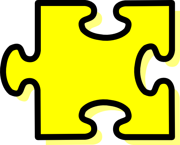 royalty free stock Pieces clipart yellow. Puzzle piece clip art