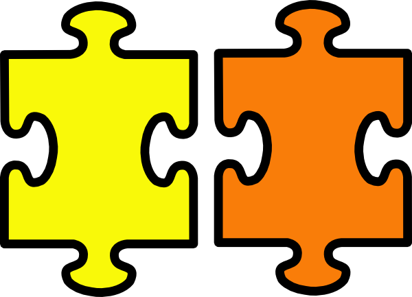 clipart free Pieces clipart yellow. Puzzle and orange clip