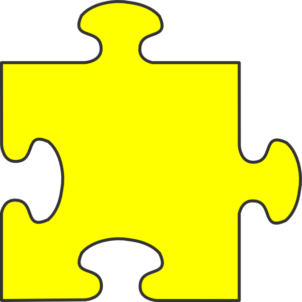 jpg library stock Pieces clipart yellow. Border puzzle piece top