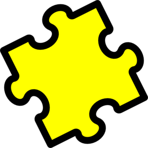 png royalty free library Puzzle piece clip art. Pieces clipart yellow