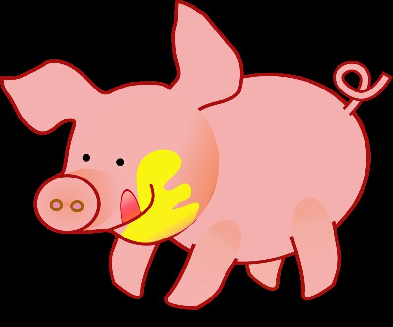 graphic free download Clip art cartoon panda. Pig clipart.