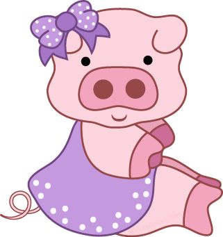 jpg free Pig clipart. Free from www cutecolors